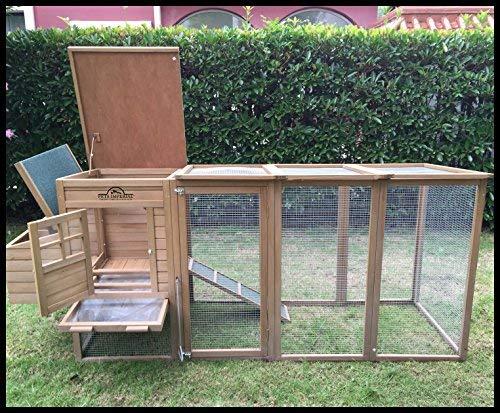 Pets Imperial® Blenheim Hühnerstall mit extra langen Auslaufflächen 8ft/2,5m und Maschendrahtabdeckung geeignet für 4/6 Vögel je nach Größe - 4