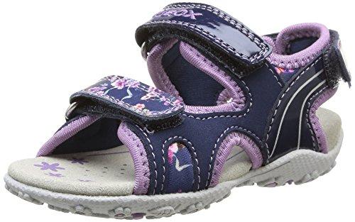 Geox B Sand Roxanne B, Baby Mädchen Babyschuhe - Krabbelschuhe & Puschen Blau - Bleu (Navy/Lilac)