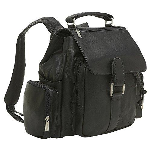 le-donne-leather-multi-pocket-backpack-black