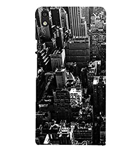 Fiobs Designer Phone Back Case Cover Huawei Ascend P6 ( Top City View )