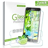 Aonsen Verre Trempé Galaxy A5 2017, [Lot de 2] Film Protection en Verre Trempé écran Protecteur Vitre, Dureté 9H Glass Anti Rayures, Sans Bulles d'air Pour Samsung Galaxy A5 - Transparent