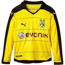 PUMA camiseta para niños de manga larga camiseta del local con adhesivo Amarillo Cyber Yellow, Black Talla:152