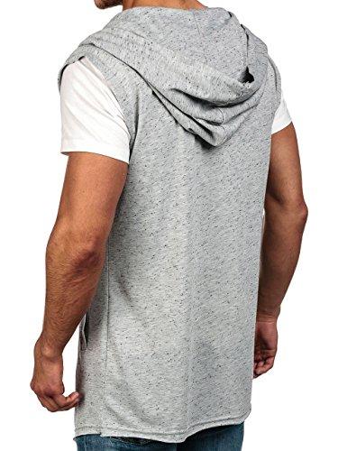 BOLF Mens Sweat à capuche Casual shirt Hommes 1A1 Gris