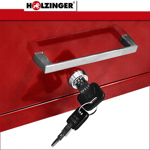 Holzinger Metall Werkzeugkoffer HWZK600-6 – kugelgelagert (6 Schubladen + 1 Fach) - 4