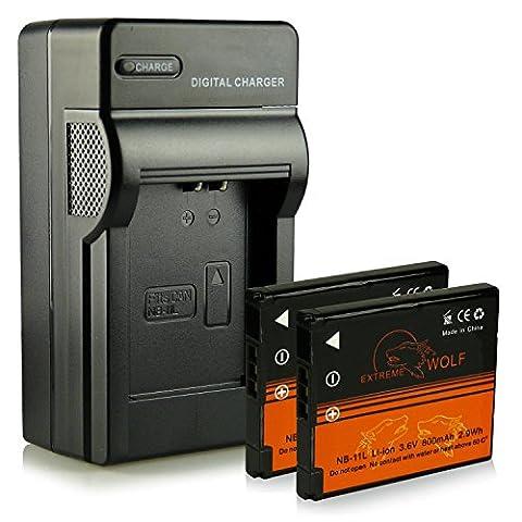 Chargeur + 2x ExtremeWolf Batterie NB-11L pour Canon Digital IXUS