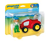 Playmobil 1.2.3 - 6794 - Figurine - Agricultrice Avec Tracteur