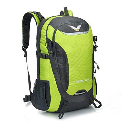 LF&F Backpack 40L KapazitäT Unisex Outdoor Bergsteigen Rucksack Camping Wandern Radfahren Skifahren Urlaub GepäCk Taschen College-Taschen Daypacks Tornister A