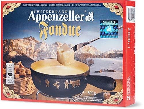 Fondue-Käse \'Appenzeller\' - 800g würziger, aromatischer Käse aus der Schweiz als cremiges Fondue