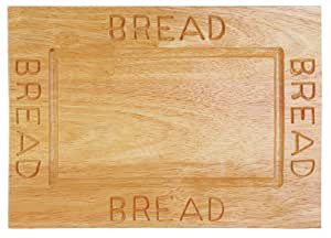 Premier Housewares Bread Board, 2 x 38 x 26 cm - Rubberwood