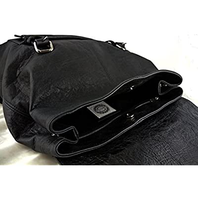 Large Black Leather Backpack - handmade-bags
