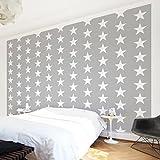 Apalis Kindertapeten Vliestapeten Nummer YK35 Weiße Sterne Fototapete Breit | Vlies Tapete Wandtapete Wandbild Foto 3D Fototapete für Schlafzimmer Wohnzimmer Küche | mehrfarbig, 106950