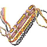 Toyvian Braccialetti Intrecciati Colorati Fatti a Mano Intrecciati bracciali alla Caviglia del Polso per Donna Ragazza 8pcs (Colore Casuale)