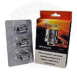 Bobines SMOK TFV8 X-Baby pour réservoir X-Baby seulement - T6 [3 pack] - 0.2 ohm [40w-130w], Ce produit ne contient pas de nicotine ou de tabac