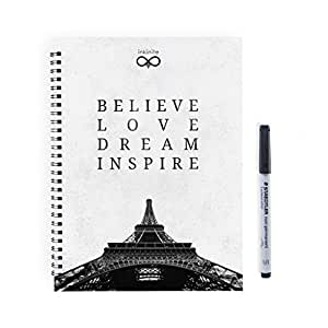 Inkinite App Compatible Believe Reusable Notebook with Staedtler Non Permanent Marker