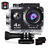 Action Cam 4K 16MP WiFi Camera Ultra Full HD Action Cam WiFi Kamera Unterwasser Kamera Ultra HD Sport Camera Helmkamera Wasserdicht mit 2 Stück 1050 mAh Batterien