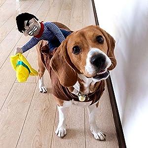 Highdas Habillement pour chien drôle Costume de costume pour chien Habillement Vêtements pour animaux de compagnie