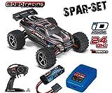 Traxxas 71054-1 E-Revo 1:16 brushed RTR 2,4GHz 4WD +2S LiPo Akku +Lader schwarz