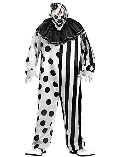 Unheimlicher Horror Clown Halloween Fasching Karneval Verkleidung ()