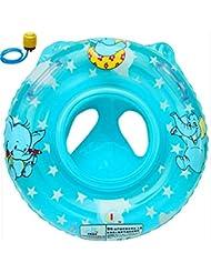 Bouée siège gonflable pour bébé (Eléphant Bleu)