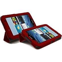 """LuvTab - Funda soporte para tablet Samsung Galaxy Tab 2 GT-P3110 / GT-P3113 de 7"""", diseño ejecutivo, color negro rosso"""