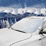 Ansenesna Abdeckung Windschutzscheibe Auto Winter Aluminium Frontscheibenabdeckung Scheibenabdeckung Sunshade Anti Schnee (Silber)