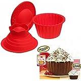 Bluelover 3pcs Big Top Cupcake Pan gigante silicona moldes para hornear Set