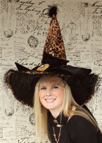 Halloween Witch Hat Leopard HAT70570 Halloween Costumes by GALLERIE II
