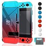 FYOUNG Dockable Cover per Nintendo Switch con Protezione Schermo, Versione migliorata di Cristallo, Custodia di Protezione per Nintendo Switch Console e Joy Cons con 6 Pollici Rpssp bòu