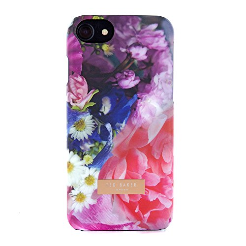 Official Ted Baker Aw16 Soft-feel Back Shell For Apple Iphone 8, 7, 6s - Focus Bouquet