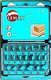 Leman 428.700.20Koffer 20Strähnen Oberfräse Rundkegel-Queue 8mm