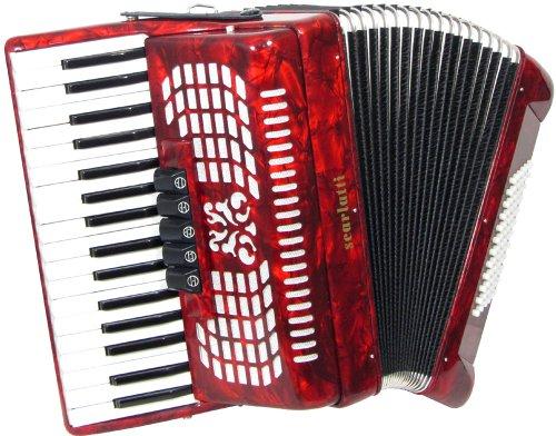 Scarlatti 72 Bass Akkordeon, Rot