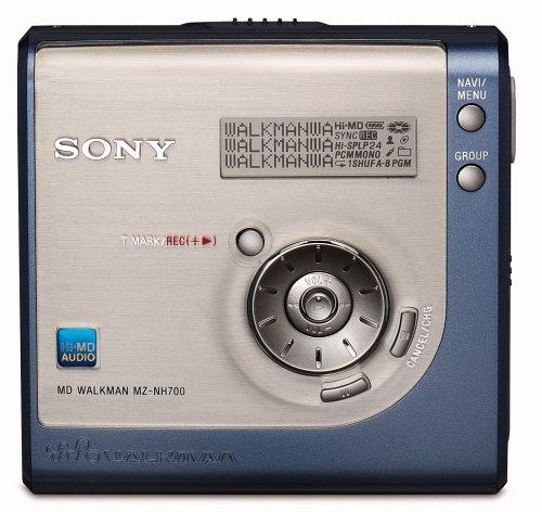 Sony MZ-NH700/L Tragbarer MiniDisc-Rekorder (Hi-MD) blau