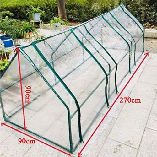 XY&CF-Flower house Pflanzengewächshaus PVC transparente Abdeckung Metall Stahlrohr Halterung...