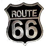 Route 66 Motorcycles Rocker Biker Patch ''6,5 x 8,3 cm'' - Parche Parches Termoadhesivos Parche Bordado Parches Bordados Parches Para La Ropa Parches La Ropa Termoadhesivo Apliques Iron on Patch Iron-On Apliques