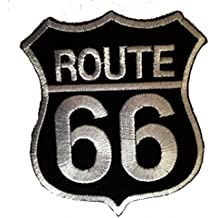 Route 66 Motorcycles Rocker Biker Patch ''6,5 x 8,3 cm'' - Parche Parches Termoadhesivos Parche Bordado Parches Bordados Parches Para La Ropa Parches La Ropa Termoadhesivo Apliques Iron on Patch Iron-On Apliques