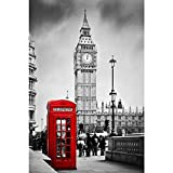 #8: Pitaara Box Red Telephone Booth And Big Ben In London, England, UK - MEDIUM Size 12.0 inch x 18.0 inch - FRAMED CANVAS Wall Paintings with 6mm (0.24 inch) THICK MDF MOUNTING FRAME : DIGITAL PRINT Wall Posters Art Panel like Hand Paintings : Home Interior Wall Décor Photo Gifts & Decorative Paintings for Bedroom, Living Room, Drawing, Dining Room, Kitchen, Office, Reception, Bathroom, Outdoor, Gallery, Hotels, Restaurants, & Balcony : Places, Vintage : Photography