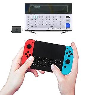 Teepao Wireless Keyboard für Nintendo Switch, 2018 Neu 2.4G Wireless Game Keyboard für Nintendo Switch Console Host Remote Control Keyboard für Nintendo Switch mit Einem 2.4G-Empfänger