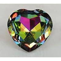 Tripact Inc Crystal Diamond Jewel Paperweight 80 mm Heart Dark Rainbow