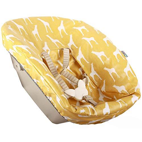 Bezug Stokke Tripp Trapp Newborn Set Gelb Giraffe Öko-Tex 100 Baumwolle Recycelbar Schweißabsorbierend und Weich für Ihr Baby
