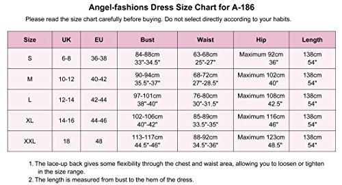 Angel-fashions Damen Paillette Tragerlos Schatz Gitter Schnuren Bankett-Kleid XXLarge Gold - 6