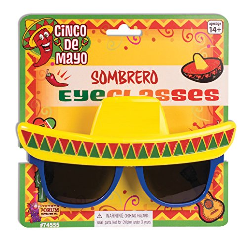 Forum Novelties 74555 Sombrero Sonnenbrille, One Size