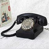Altmodische Telefonleitung Telefon Antique Retro Telefon Festnetz Home Fest Netz,Black