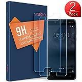 SLEO Protection écran Nokia 5 Verre Trempé, Film Vitre Tactile Ultra Transparent Résistant aux Rayure Easy-Install pour Nokia 5-2 Pack