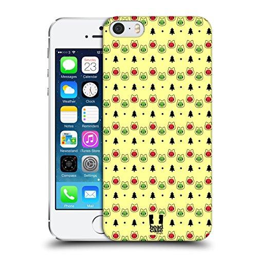 Head Case Designs Babbo Natale Bianco Gatti Aztechi Cover Retro Rigida per Apple iPhone 7 / iPhone 8 Luci Gialle