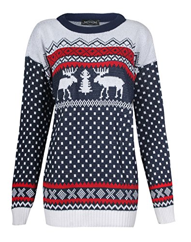 Fast Fashion Herren Pullover Langarm Zwillings Rentier Schneeflocke  Weihnachts 1a129bb407
