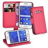 Cadorabo Custodia Libro per Samsung Galaxy ACE 4 LITE in ROSSO CARMINIO – con Vani di Carte, Funzione Stand e Chiusura Magnetica – Portafoglio Cover Case Wallet Book Etui Protezione