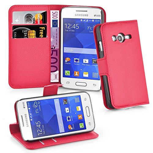 Cadorabo - Custodia per Samsung Galaxy Ace 4 Lite, Colore: Rosso Carminio