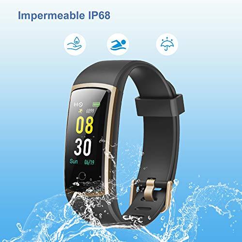 Imagen de yamay pulsera de actividad inteligente, pulsera inteligente con blood pressure monitor y pulsómetro,impermeable ip68 pulsera deportiva reloj inteligente para mujeres hombres smartwatch para phone alternativa