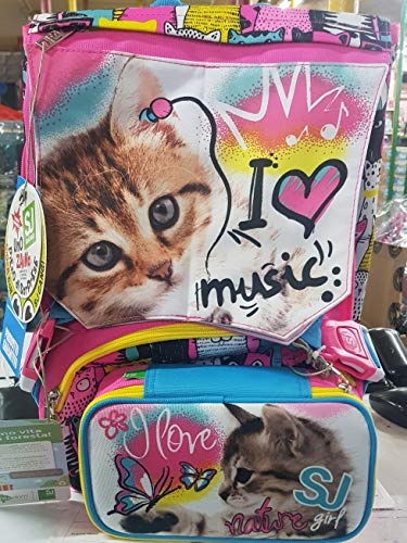 Schoolpack seven sj top friends zaino estensibile con astuccio accessoriato