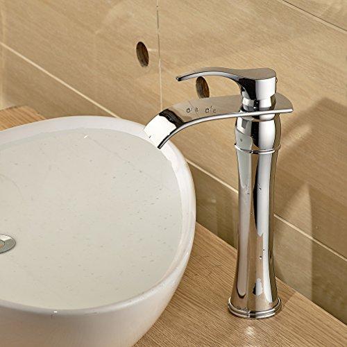 Auralum Einhebel Wasserhahn Armatur Waschtischarmatur Wasserfall Einhandmischer f. Küche und Bad - 2